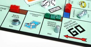 right hand corner of a monopoly board